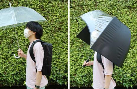 雨が降ってもリュックを濡らさない傘!!『リュックガードアンブレラ』をご紹介!!